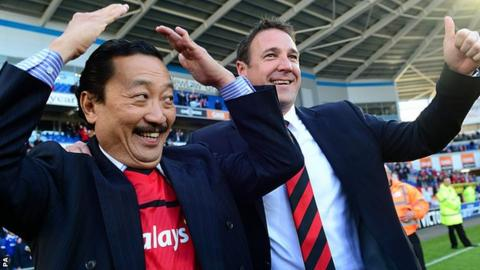 Vincent Tan and Malky Mackay