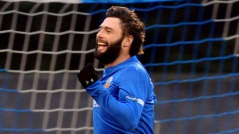 Gary Hamilton scored the opening goal in Glenavon's 3-2 victory over Portadown