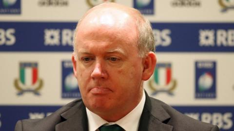Declan Kidney after Ireland's defeat by Italy, which proved his final game in charge