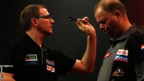 Mark Webster and Raymond van Barneveld