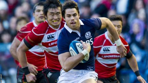 Sean Maitland in action against Japan
