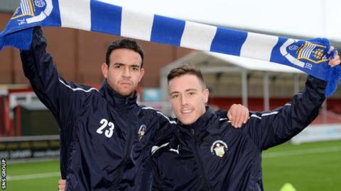 Darren Cole and Barrie McKay at Cappielow