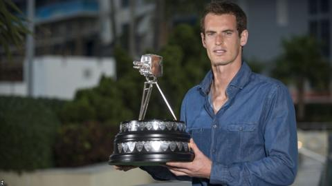 Andy Murray with the BBC Sports Personality of the Year award