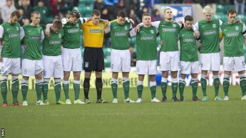 Hibernian players remember David Paul, the club's academy player who died just before Christmas
