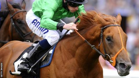 Piping Rock ridden by Ryan Moore at Ascot in July