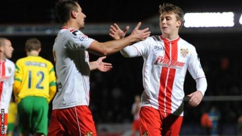 Stevenage winger Luke Freeman