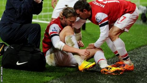 Nicklas Bendtner for Arsenal