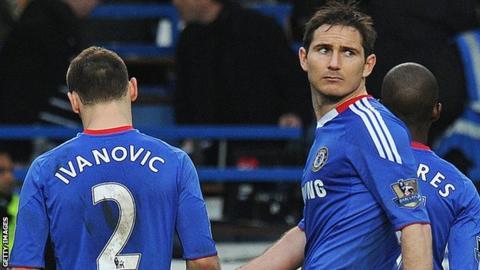 Chelsea's Frank Lampard and Branislav Ivanovic