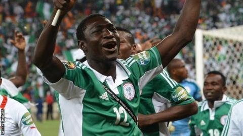 Nigeria midfielder Gabriel Reuben