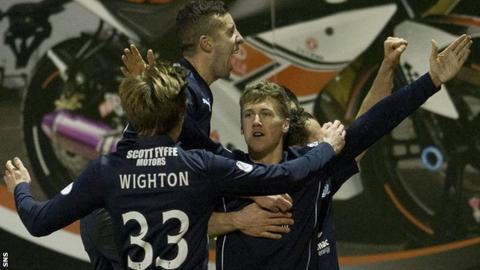 Dundee players celebrating