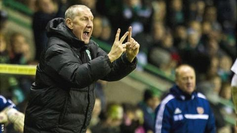 Hibs manager Terry Butcher