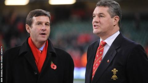 WRU chief Roger Lewis and chairman David Pickering