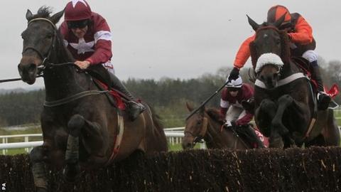 Sir Des Champs beating Long Run at Punchestown