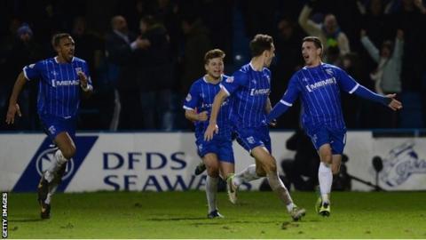 Gillingham celebrate winner
