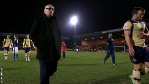 Leeds manager Brian McDermott
