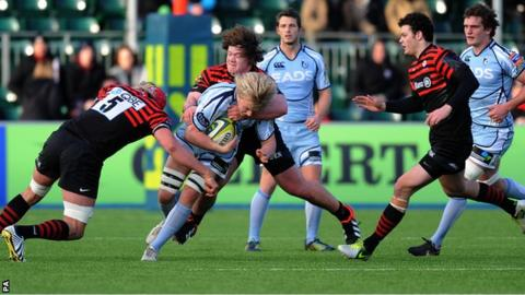Saracens and Cardiff Blues clash in an LV= Cup match