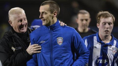 Oran Kearney was happy to see Coleraine's losing run end with a 2-0 win over Ards