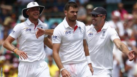 Stuart Broad, James Anderson & Kevin Pietersen
