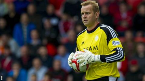 Aberdeen goalkeeper Nicky Weaver