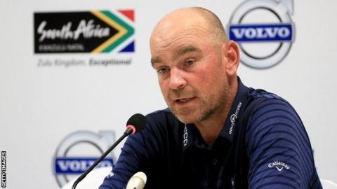Thomas Bjorn speaking ahead of the Volvo Champions tournament 2014