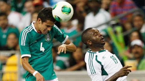 Nigeria and Mexico drew 2-2 when they met last May