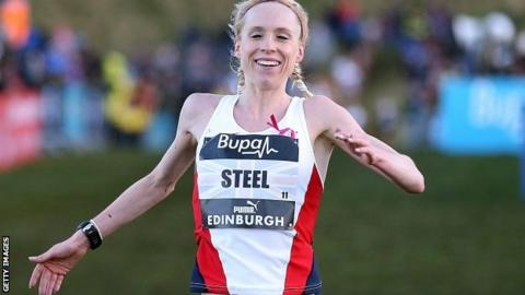 Gemma Steel wins women's 6km cross country race in Edinburgh