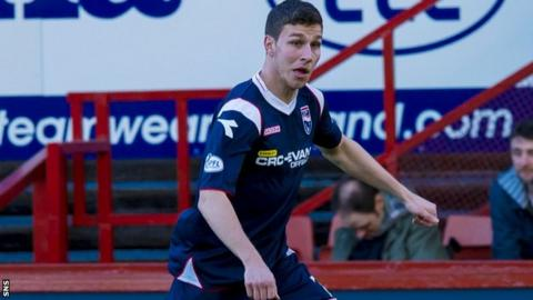 Ross County midfielder Filip Kiss