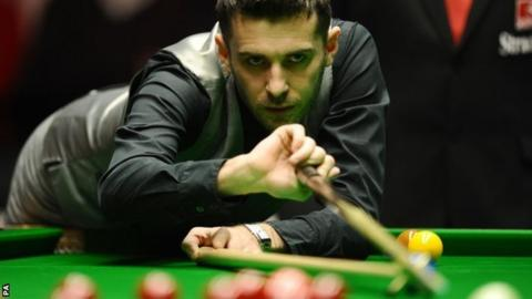 Mark Selby in first-round action