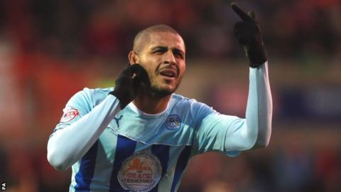 Coventry City striker Leon Clarke