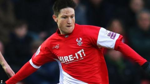 Kidderminster Harriers striker Joe Lolley