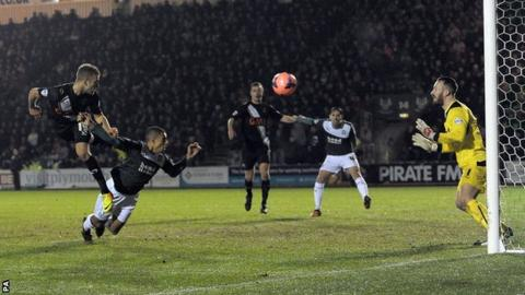 Ben Williamson scores Port Vale's second goal