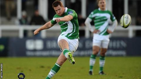 Newcastle Falcons fly-half Rory Clegg