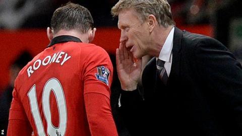 Wayne Rooney and David Moyes