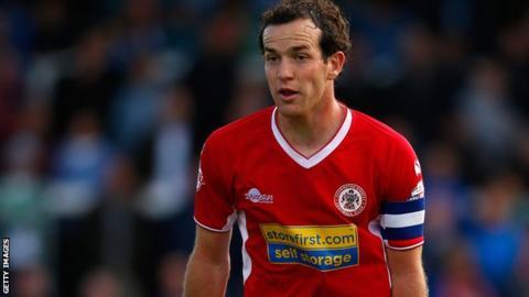 Luke Joyce playing for Accrington Stanley