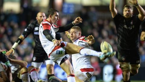 Ruan Pienaar produced a clearing kick late in Ulster's win at Welford Road