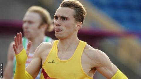 400m runner Jamie Bowie