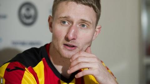 Partick Thistle midfielder Chris Erskine