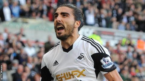 Swansea City player Chico Flores
