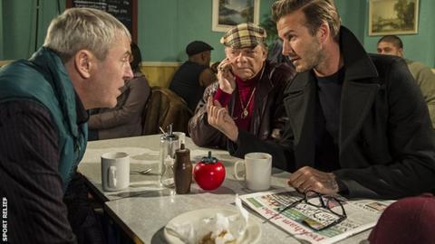 David Beckham, David Jason, Nicholas Lyndhurst