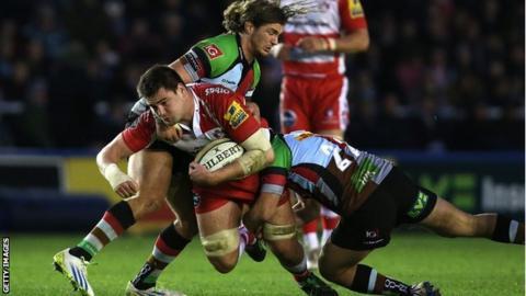 Elliott Stooke in action for Gloucester