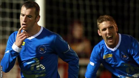 Ryan Campbell scored for Ballinamallard United in the first half