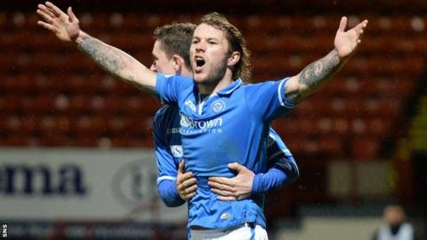 St Johnstone forward Stevie May