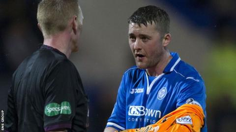 Tom Scobbie played in goals for St Johnstone at the weekend