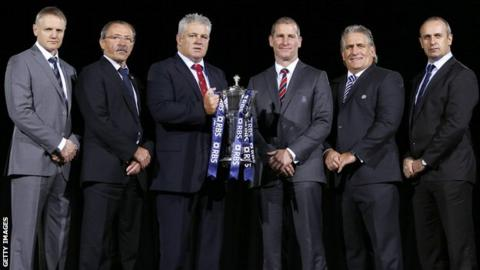 The coaches at the Six Nations launch
