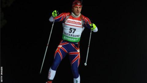 Team GB biathlete Lee Jackson