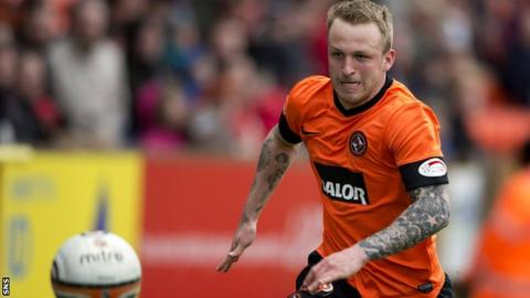 Dundee United forward Johnny Russell