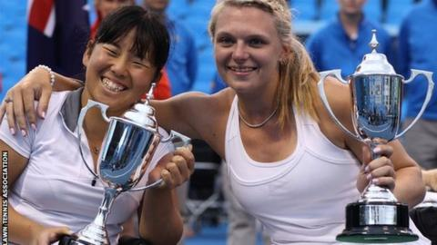 Britain's Jordanne Whiley and Japan's Yui Kamiji