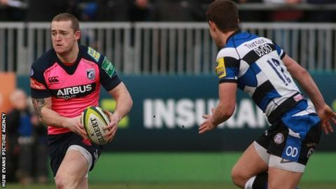 Owen Williams in action for Cardiff Blues