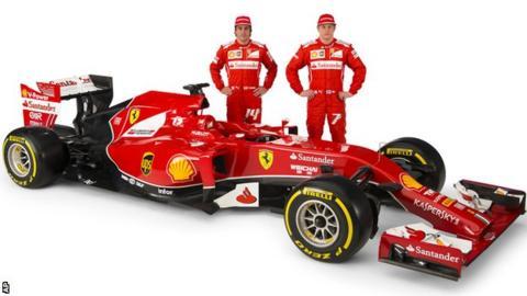 Ferrari drivers Fernando Alonso, left, and Kimi Raikkonen