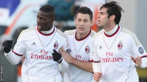 Mario Balotelli is fined for a gesture made at Cagliari fans on Sunday.